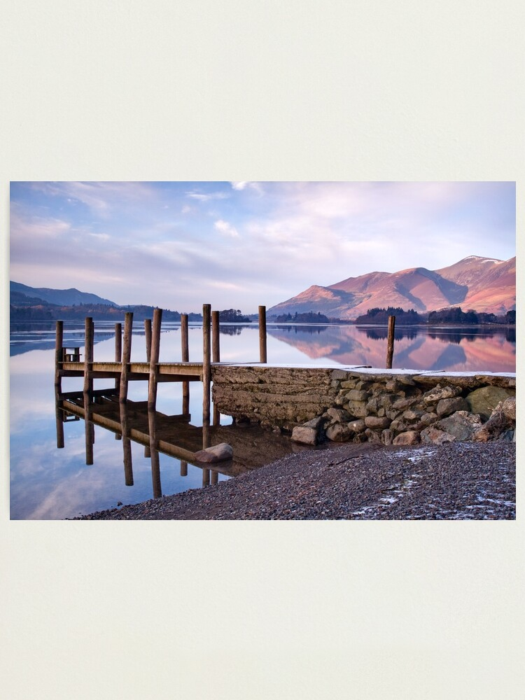 Alternate view of Ashness Jetty - Derwentwater - The Lake District Photographic Print