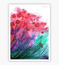 Flowers - Dancing Poppies Sticker