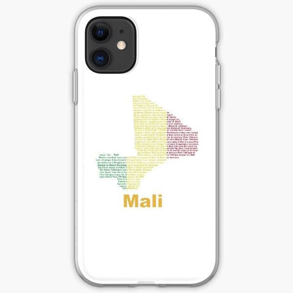 Coque pour Apple iPhone 11 pro max cuir à rabat drapeau mali malien case foot football jo CAN motif smartphone basket antichoc 64 Go