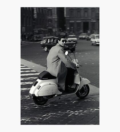 Scooterman Rome Photographic Print