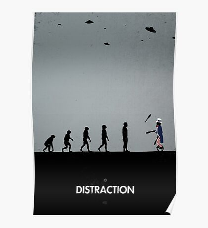 99 Steps of Progress - Distraction Poster