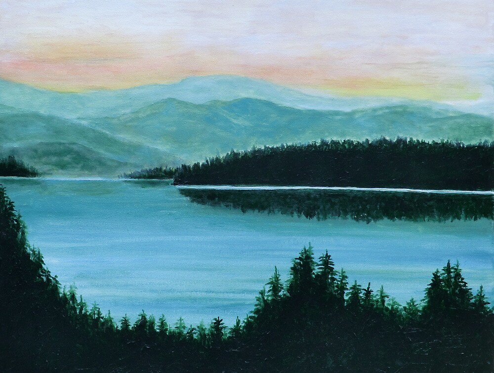 New Hampshire Lake by Brad A. Thomas