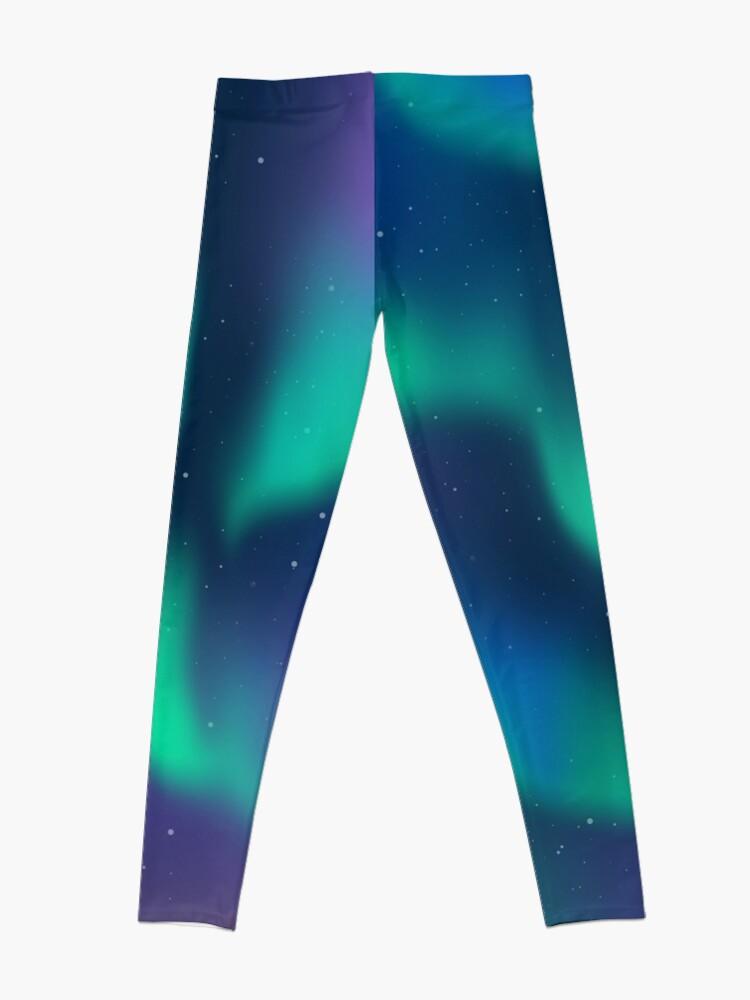 Alternate view of Aurora Borealis Northern Lights Leggings