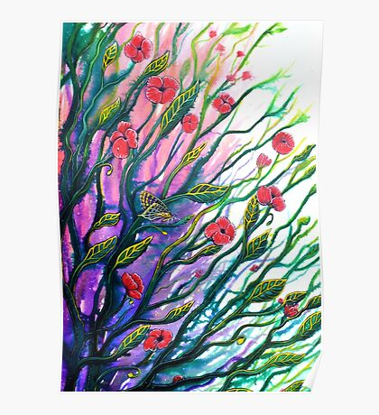 Morning Breeze - Flowers Poster