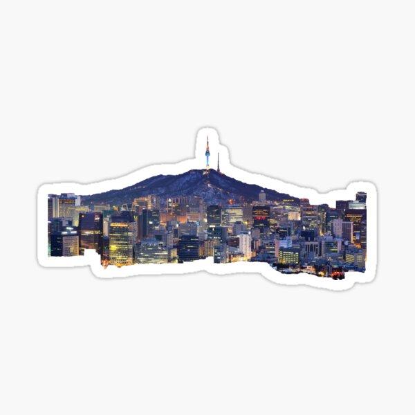 Seoul Cityscape Sticker