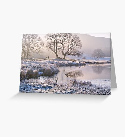 Frosty morning at the River Brathay - The Lake District Greeting Card