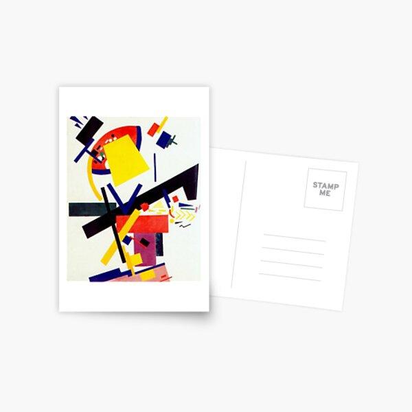 Супрематизм: Kazimir Malevich Suprematism Work Postcard