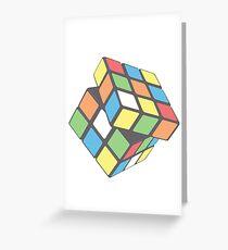 Rubix Cube - Plain Greeting Card