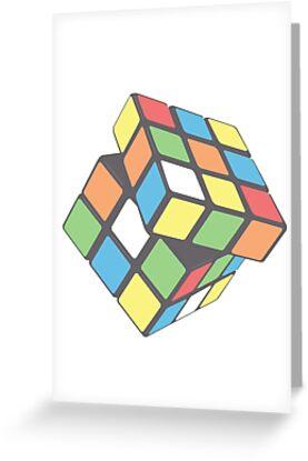 Rubix cube plain greeting cards by brzt redbubble rubix cube plain by brzt m4hsunfo