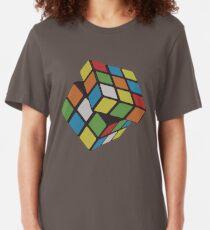 Rubix Cube - Plain Slim Fit T-Shirt