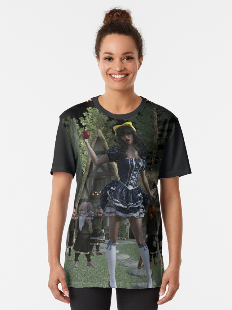 Alternate view of Fairy Tales: Snow White & The 7 Dwarves Graphic T-Shirt
