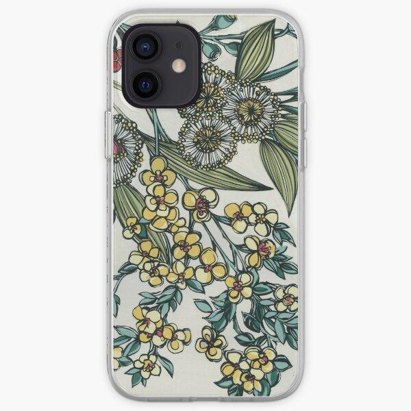 Retro Australian Native Floral iPhone Soft Case