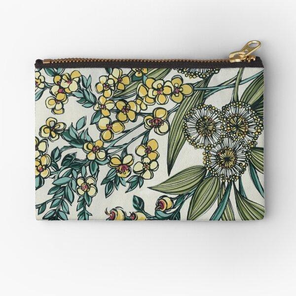 Retro Australian Native Floral Zipper Pouch