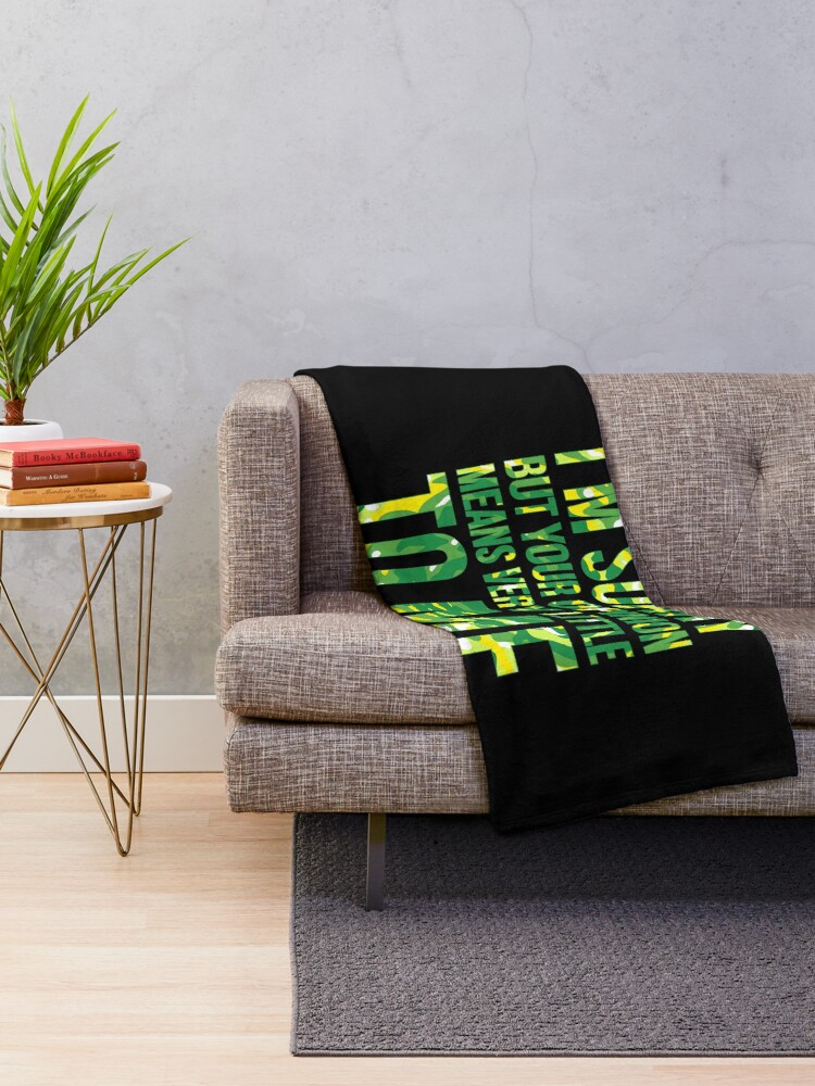Alternate view of im sorry but your opinion means very little to me Throw Blanket