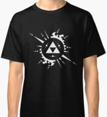 The legend of Zelda Triforce, White Classic T-Shirt