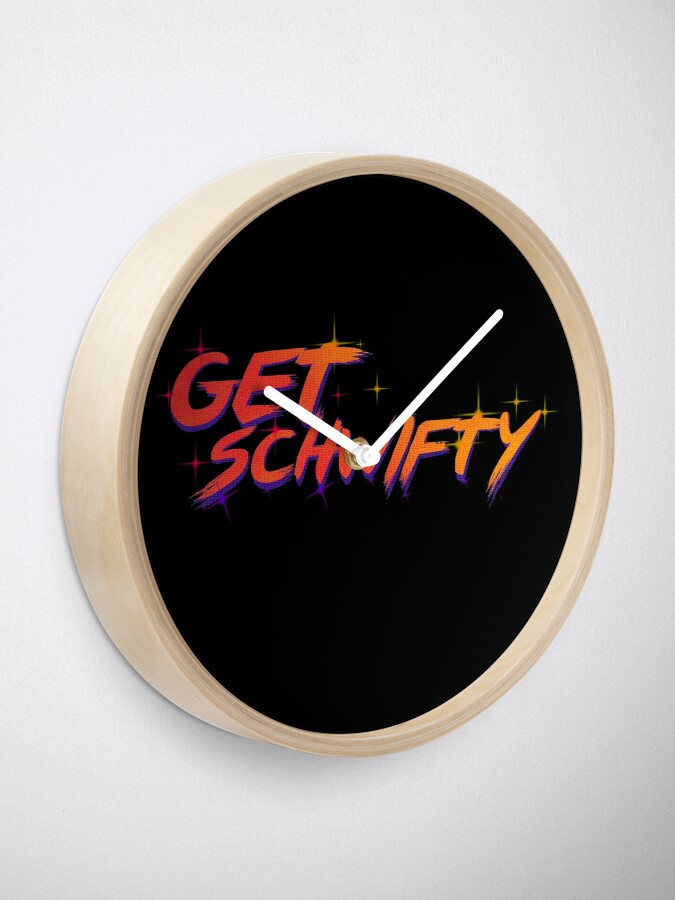 Alternate view of get schwifty rick and morty  Clock