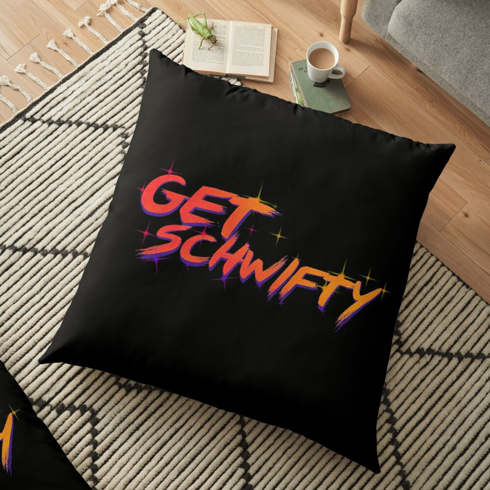 get schwifty rick and morty  Floor Pillow