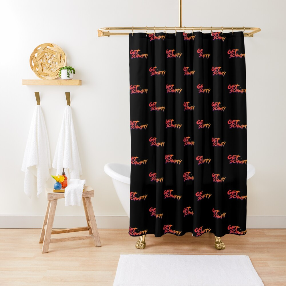 get schwifty rick and morty  Shower Curtain