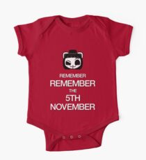 Remember, remember the 5th of November One Piece - Short Sleeve