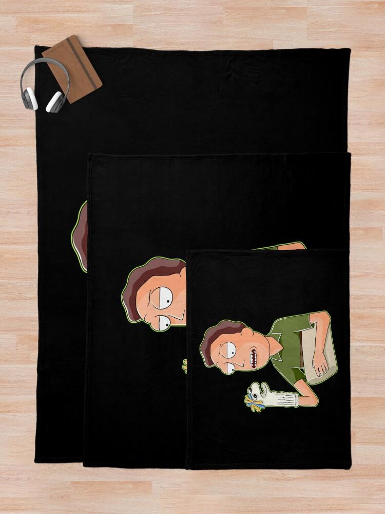 Alternate view of jerry smith  Throw Blanket