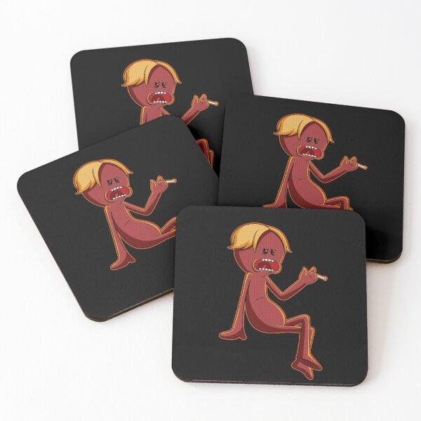 red meeseeks Coasters (Set of 4)