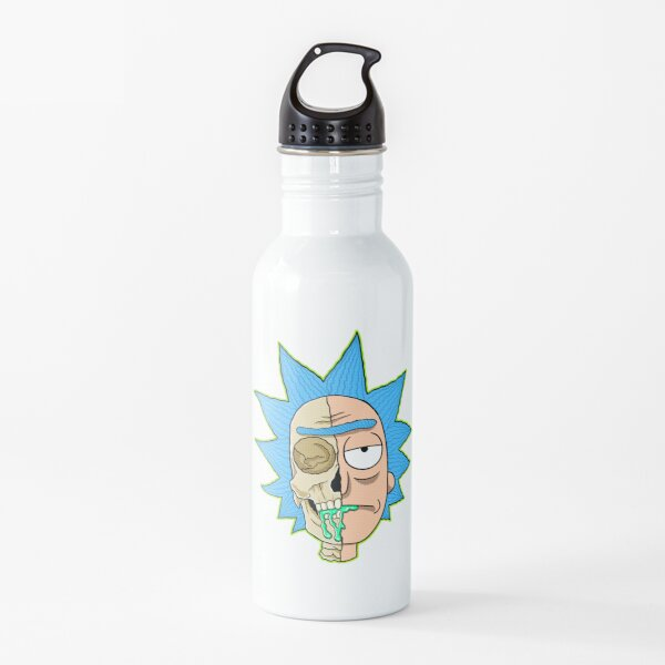 morty  rick and morty skull Water Bottle