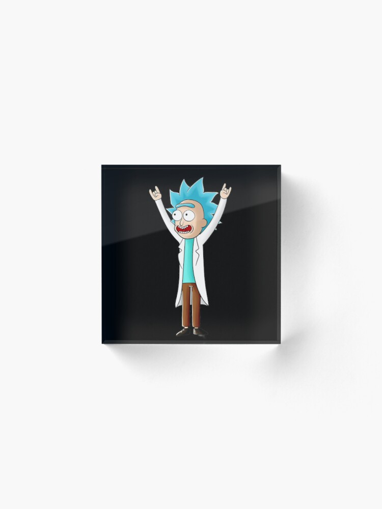 Alternate view of tiny rick Acrylic Block