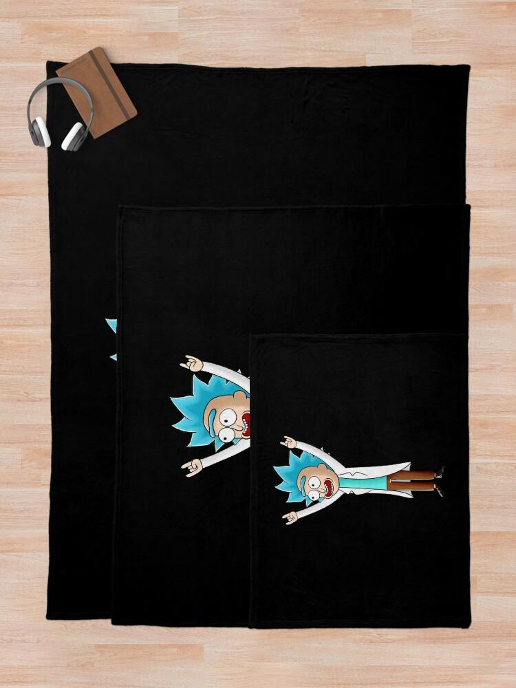 Alternate view of tiny rick Throw Blanket