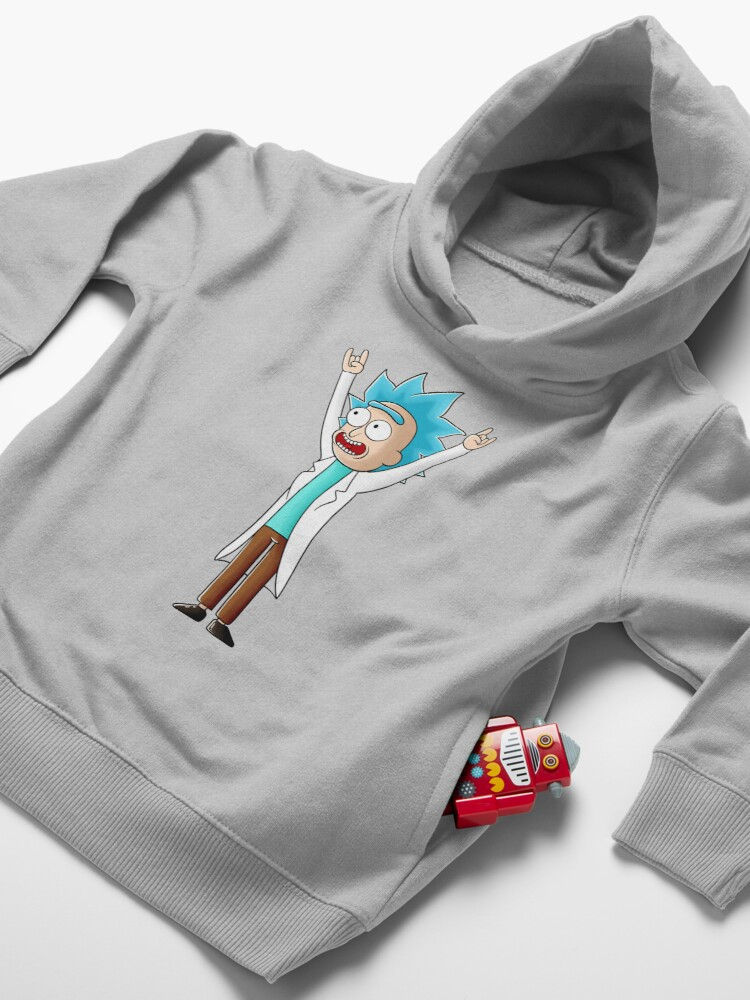 Alternate view of tiny rick Toddler Pullover Hoodie
