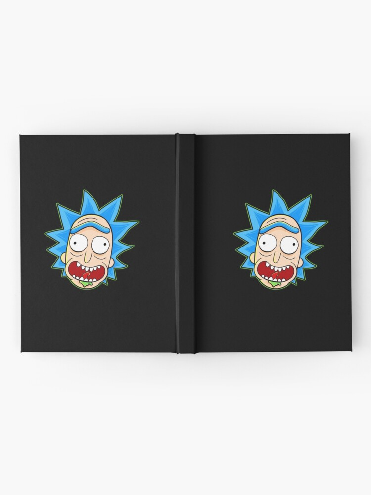 Alternate view of rick and morty rick sanchez Hardcover Journal