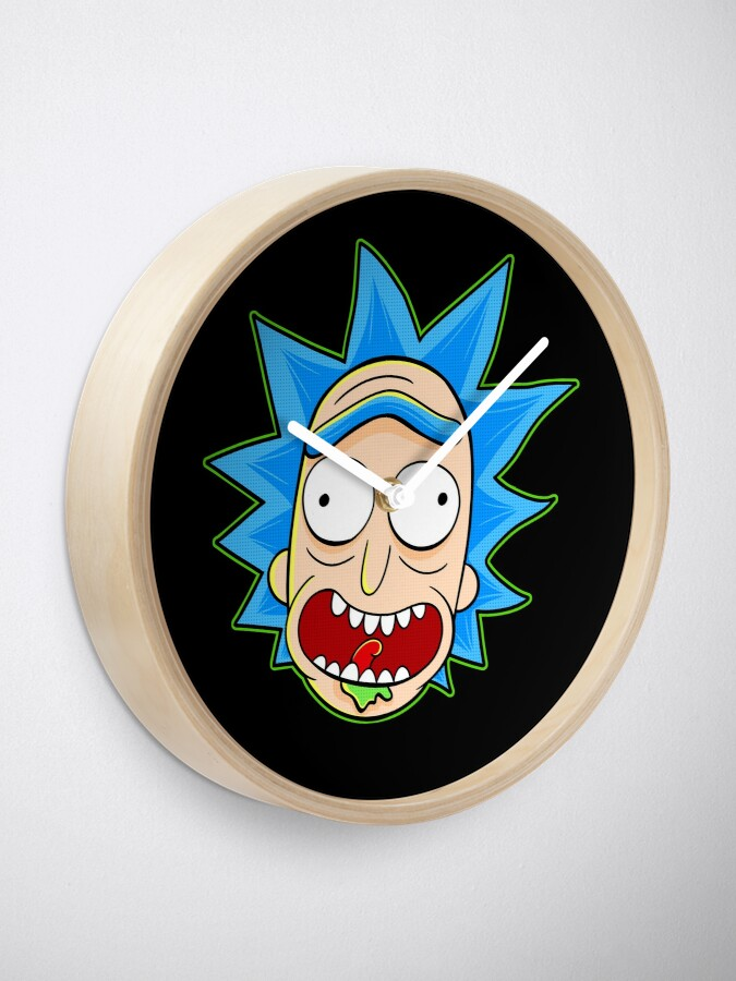 Alternate view of rick and morty rick sanchez Clock
