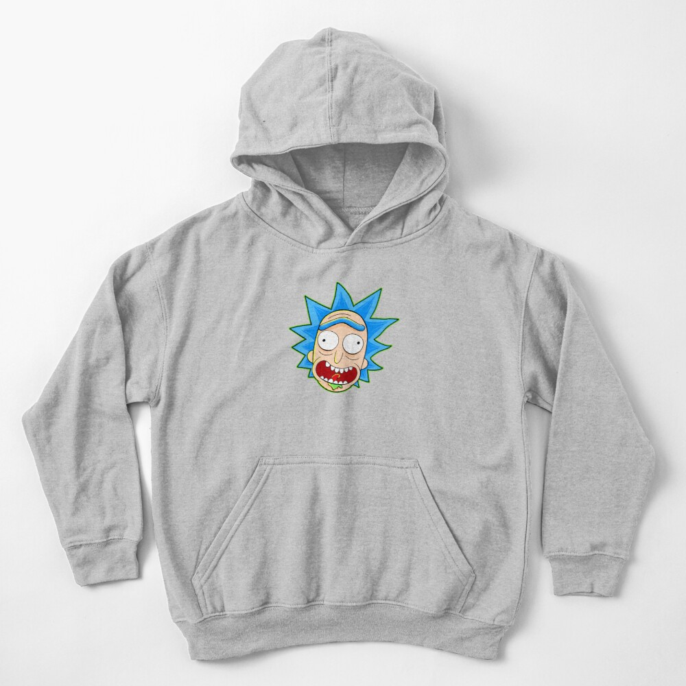 rick and morty rick sanchez Kids Pullover Hoodie