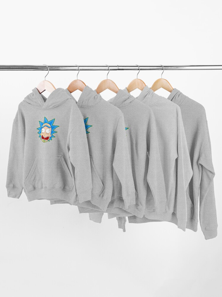 Alternate view of rick and morty rick sanchez Kids Pullover Hoodie