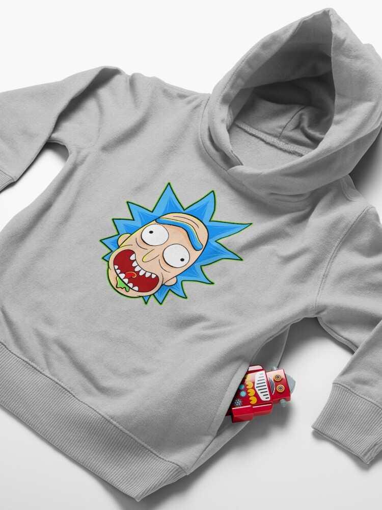 Alternate view of rick and morty rick sanchez Toddler Pullover Hoodie