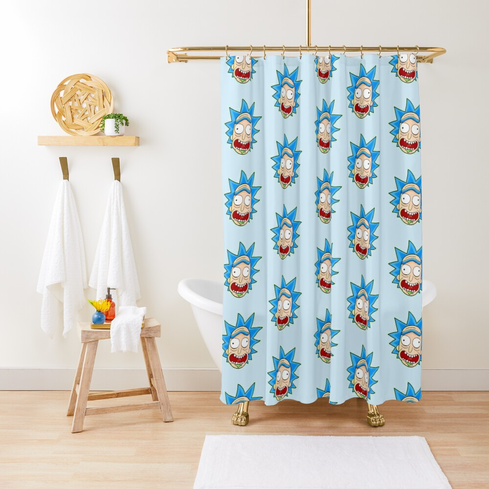 rick and morty rick sanchez Shower Curtain