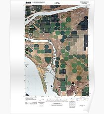 USGS Topo Map Washington State WA Humorist 20110404 TM Poster