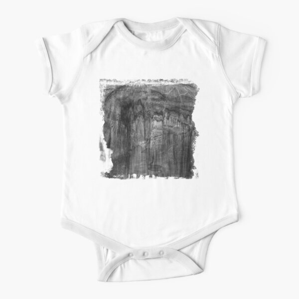 The Atlas of Dreams - Plate 18 (b&w) Short Sleeve Baby One-Piece