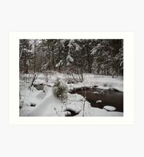 Creek to The Hudson River Art Print