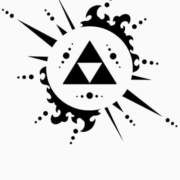 The legend of zelda Triforce, Black by BudDudley