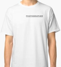Photographer T Shirt Black Classic T-Shirt