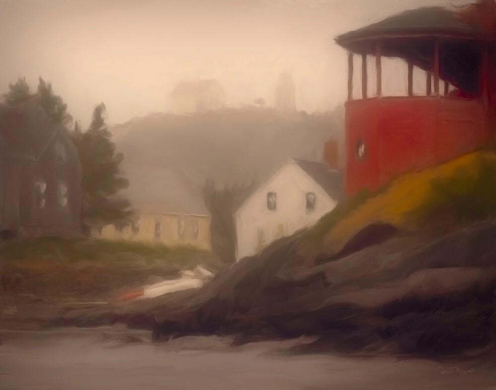 Red House, Monhegan Island Maine by Dave  Higgins