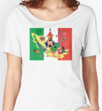 Cinco de Mayo with Mexican Flag Women's Relaxed Fit T-Shirt