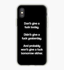 Vinilo o funda para iPhone Simplemente no den una mierda
