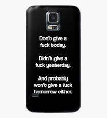 Just Don't Give A Fuck Hülle & Klebefolie für Samsung Galaxy