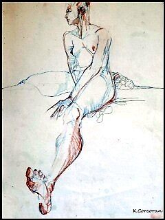 figure drawing  by Kevin  Corcoran