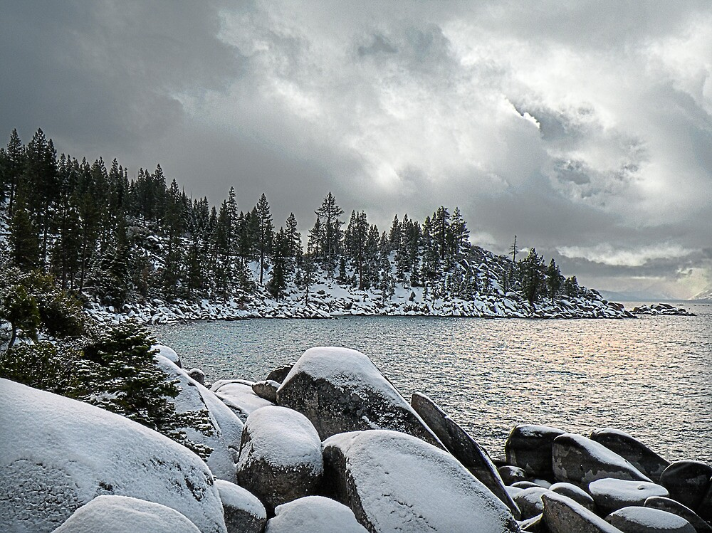 Lake Tahoe in Winter by Gary & Marylee Pope