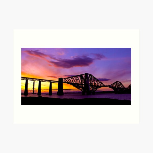 The Bridge at Dawn Art Print
