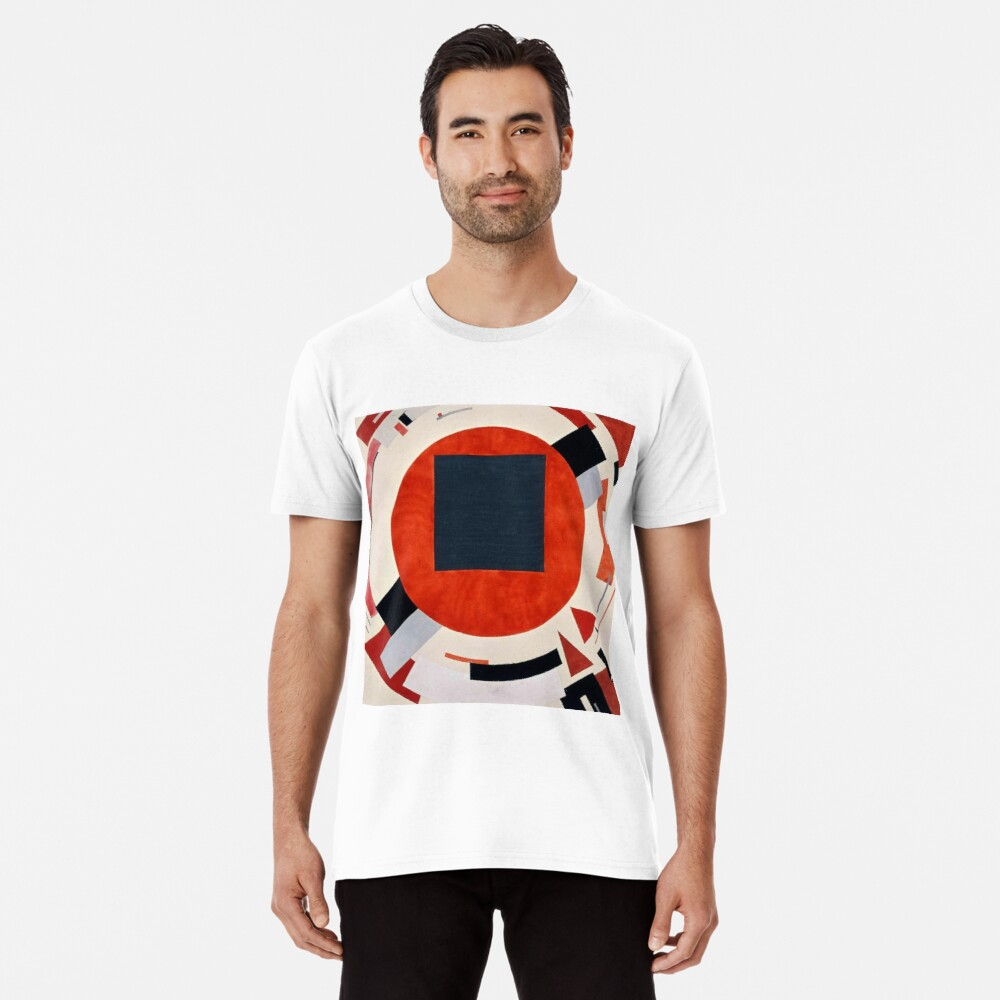 Lissitzky's Proun, ssrco,mens_premium_t_shirt,mens,fafafa:ca443f4786,front,square_three_quarter,x1000-bg,f8f8f8