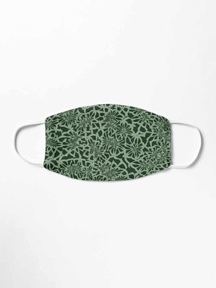 Alternate view of Green Leaf Nature Pattern Mask