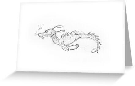 Leafy Sea Dragon by DrawingSaudade